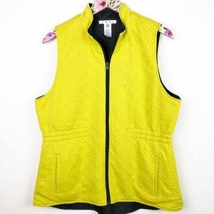 CAbi #213610 Reversible Black Lemon Lime Vest L